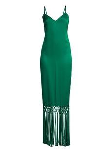 Rachel Zoe Chantelle Sleeveless Fringed Slip Gown