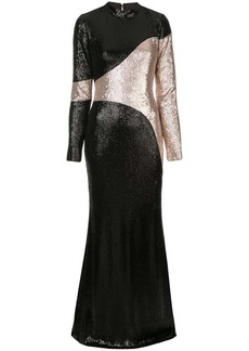 Rachel Zoe colour-block gown