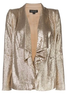 Rachel Zoe draped sequin blazer