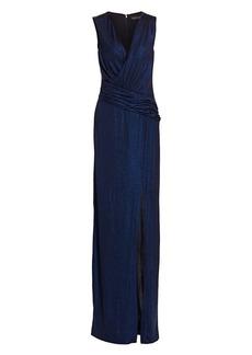 Rachel Zoe Gabrianna Glitter Column Gown