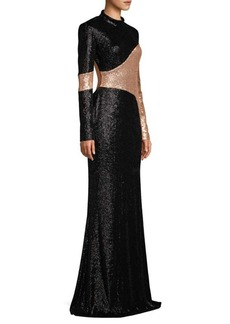 Rachel Zoe Genevieve Two-Tone Sequin Column Gown