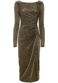 Rachel Zoe golden draped evening dress