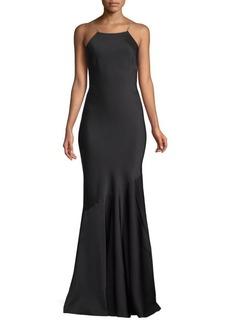 Rachel Zoe Jaclyn Cross-Back Gown