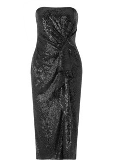 Rachel Zoe Krista Ruffled Sequined Crepe Midi Dress