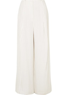 Rachel Zoe Lee Pinstriped Crepe Wide-leg Pants