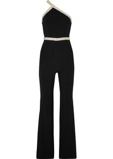 Rachel Zoe Lucy One-shoulder Embellished Crepe Jumpsuit