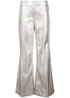 Rachel Zoe metallic wide-leg trousers