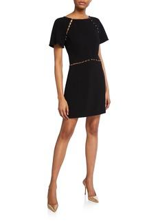 Rachel Zoe Nina Studded Short-Sleeve Dress