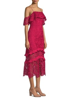 Rachel Zoe Poppy Lace Midi Dress