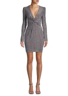 Rachel Zoe Poppy Metallic Twist-Front Dress