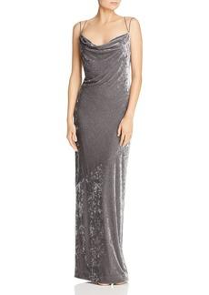 Rachel Zoe Alessia Velvet Drape-Neck Gown - 100% Exclusive