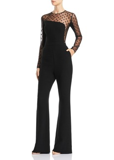 Rachel Zoe Amber Point D'esprit Jumpsuit