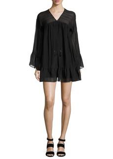 Rachel Zoe Anita Bell-Sleeve Silk Mini Dress