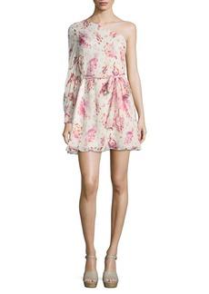 Rachel Zoe Belted One-Shoulder Dress