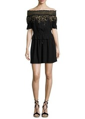 Rachel Zoe Bethany Embroidered Off-the-Shoulder Dress