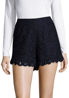 Rachel Zoe Brit High-Waist Lace Shorts