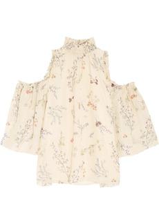 Rachel Zoe Callahan cold-shoulder floral-print silk-chiffon blouse