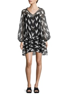 Rachel Zoe Carolina Ikat-Print Dress