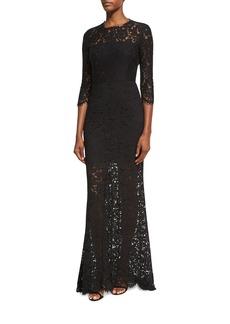 Rachel Zoe Carolyn Open-Back Lace Gown