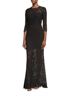 Rachel Zoe Carolyn Open-Back Lace Gown