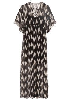 Rachel Zoe Carroll printed crinkled silk-chiffon maxi dress