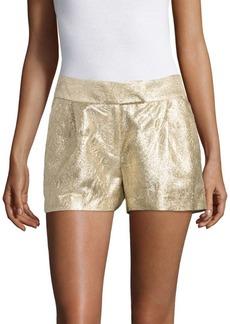 Rachel Zoe Chou Metallic Jacquard Silk Blend Shorts