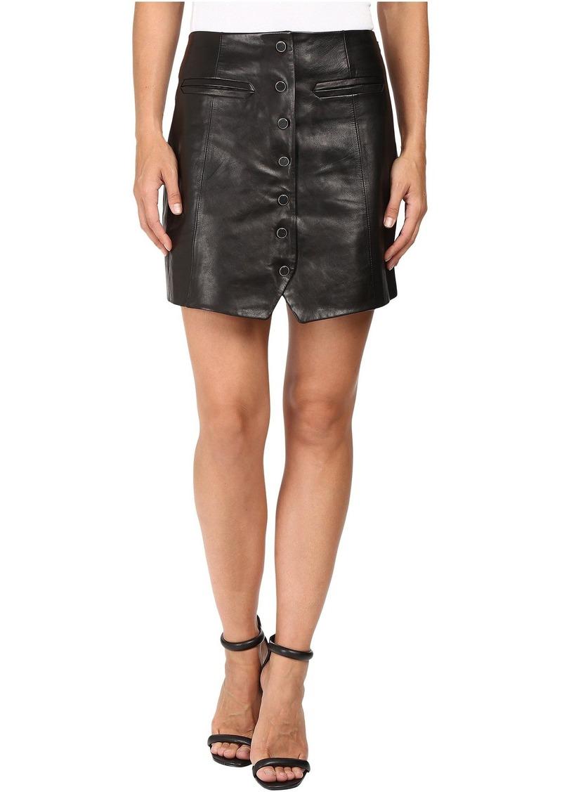 Rachel Zoe Ciara Leather Skirt