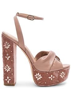 RACHEL ZOE Claudette Crystal Heel in Blush. - size 8.5 (also in 7.5,9.5)