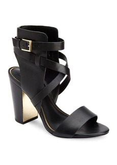 Rachel Zoe Dalella Leather Ankle-Wrapped High-Heel Sandals