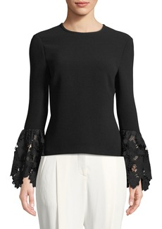 Rachel Zoe Emily Long-Sleeve Blouse with Lace Cuffs
