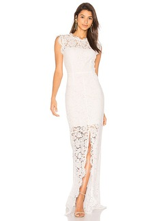 RACHEL ZOE Estelle Cut out Back Maxi Dress