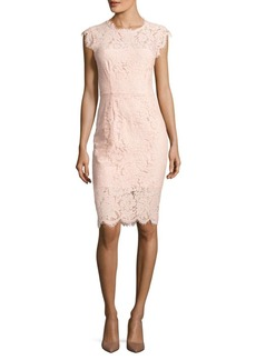 Rachel Zoe Floral Cap Sleeve Lace Sheath Dress