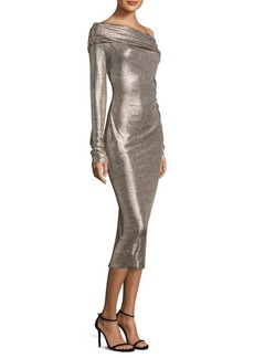 Rachel Zoe Glenda Off-The-Shoulder Metallic Dress