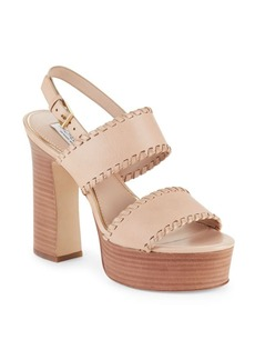 Rachel Zoe Halina Leather Open-Toe Platform Sandals