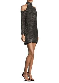 Rachel Zoe Kipling Silk Cold-Shoulder Dress