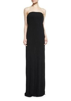 Rachel Zoe Lace-Back Strapless Gown