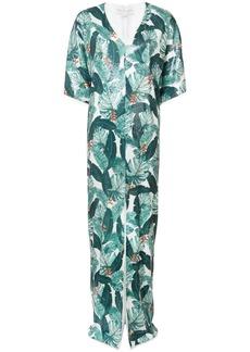 Rachel Zoe leaf print dress - Green