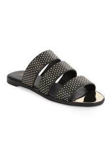 Rachel Zoe Leather Slide Sandals