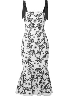 Rachel Zoe Lily Embroidered Cotton-gauze Midi Dress