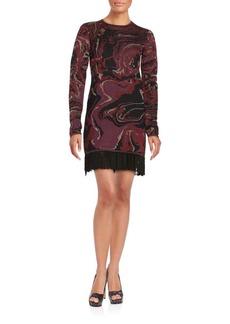 Rachel Zoe Long Sleeved Jacquard Dress