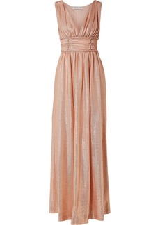 Rachel Zoe Madison Metallic Knitted Maxi Dress