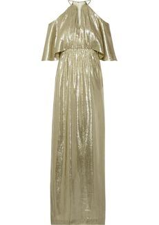 Rachel Zoe Marlene cutout metallic silk-blend jacquard gown