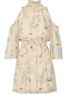 Rachel Zoe Meade cold-shoulder floral-print silk-chiffon mini dress