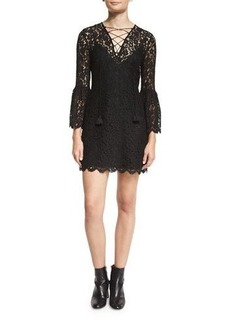 Rachel Zoe Megali Lace-Up Mini Dress