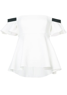 Rachel Zoe off-shoulder flared blouse - White