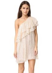 Rachel Zoe One Shoulder Ruffle Dress