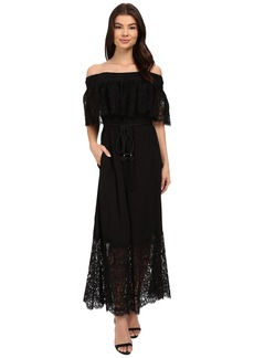 Rachel Zoe Pila Off the Shoulder Lace Midi Dress