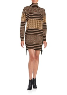 Rachel Zoe Printed Sweater Dress