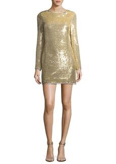 Rachel Zoe Racko Long-Sleeve Sequin Cocktail Dress