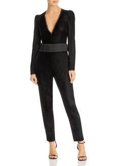 Rachel Zoe Rafaele Long Sleeve Velvet Jumpsuit